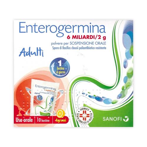 Enterogermina 6 Miliardi/2 G Polvere Per Sospensione Orale 10 Bustine