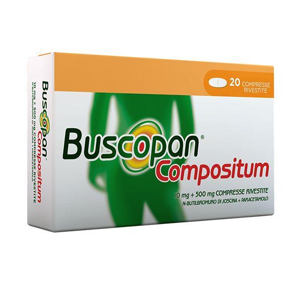 Buscopan Compositum 10 Mg + 500 Mg Compresse Rivestite 20 Compresse In Blister Al/Pvc