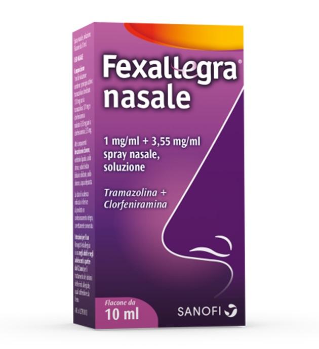 Fexallegra Nasale 1 Mg/Ml + 3,55 Mg/Ml Spray Nasale, Soluzione 1 Flacone Da 10 Ml