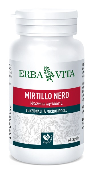 Erba Vita Mirtillo Nero Integratore Alimentare 60 Capsule