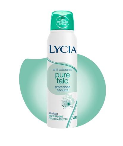 offerta Lycia Anti Odorante Pure Talc Protezione Asciutta 48H 150 Ml