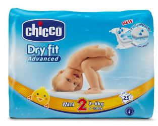 Chicco Ch Dry Fit Advance Mini 25 Pezzi