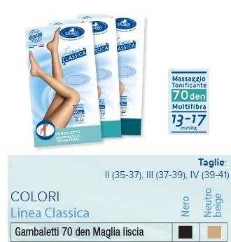 Desa Pharma Sauber Gambaletto 70 Maglia Liscia Nero 4 Linea Classica