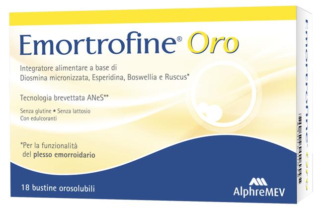 Alphrema Emortrofine Oro 18 Bustine Da 3 G