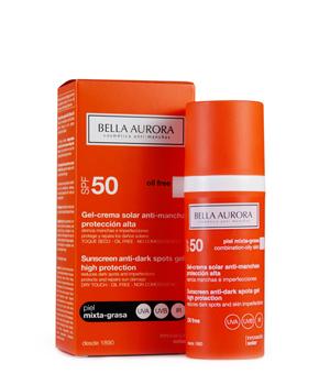 Bella Aurora Labs Gel Solare Spf 50 Anti macchie Pelle Mista grassa