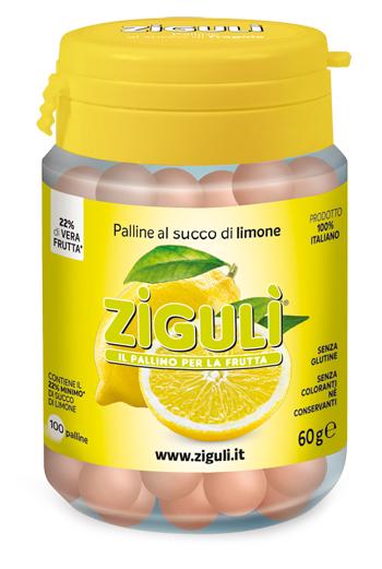 Ziguli Palline Al Succo Di Limone 100 Palline