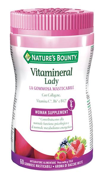 Nature s Bounty Vitamineral Lady Integratore Alimentare 60 Gommose Masticabili