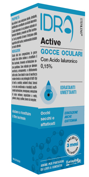 Eurospital Gocce Oculari Sterilens Idra Active 10 Ml Con Acido Ialuronico 0,15%