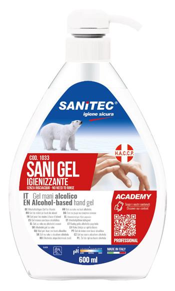 Italchimica Sanitec Sani Gel Alcolico600ml