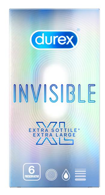 Reckitt Benckiser H.(it.) Profilattico Durex Invisible Xl 6 Pezzi