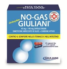 Nogas Giuliani Carbosyl 45 Mg + 140 Mg Capsule Rigide 24 Capsule Blu E 24 Capsule Gastroresistenti Rosse - Blister Al/Pvc