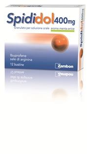 Spididol 400 Mg Granulato Per Soluzione Orale Gusto Menta-Anice 12 Bustine In Accoppiato Carta/Al/Pe