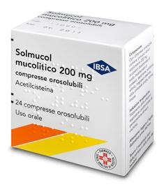 Solmucol Mucolitico 200 Mg Compresse Orosolubili 24 Compresse