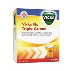 Vicks Flu Tripla A Polvere Per Soluzione Orale 10 Bustine