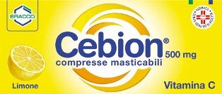 Cebion 500 500 Mg Compresse Masticabili 20 Compresse Masticabili Al Limone