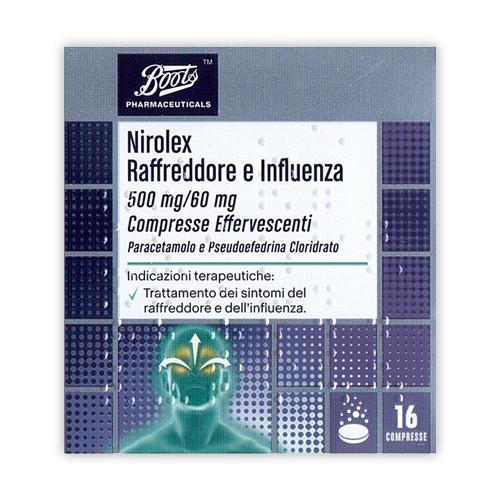 Nirolex Raffreddore Infl 500 Mg/60 Mg Compresse Effervescenti 16 Compresse