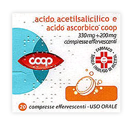 Acido Acetils Vit C Coop 330 Mg + 200 Mg Compresse Effervescenti 20 Compresse