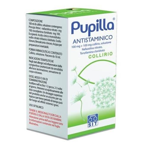 Pupilla Antistaminico 100 Mg + 100 Mg Collirio, Soluzione Flacone 10 Ml