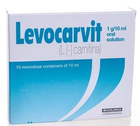 Levocarvit 1 G/10 Ml Soluzione Orale 10 Contenitori Monodose Da 10 Ml