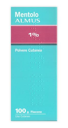 Mentolo Alm 1% Polvere Cutanea 1 Flacone 100 G
