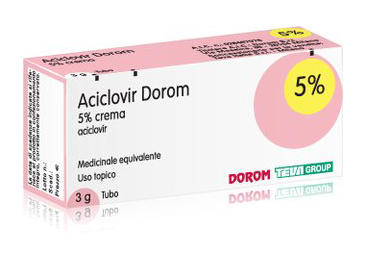 Aciclovir Dorom 5% Crema Tubo 3 G