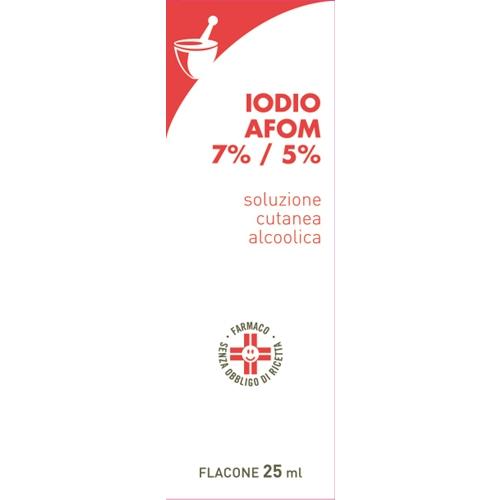 Iodio Sol Alco I Afom 7%/5% Soluzione Cutanea Alcolica 1 Flacone 25 Ml