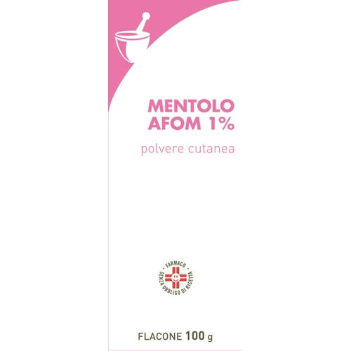 Mentolo Farm 1% Polvere Cutanea Flacone 100 G