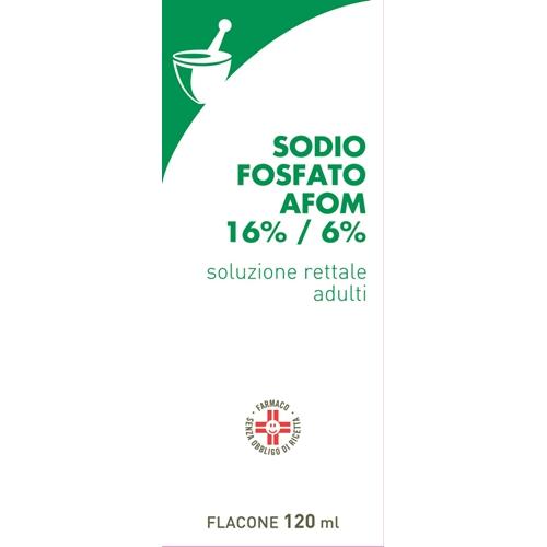 Sodio Fosfato Afom Adulti 16%/6% Soluzione Rettale 1 Flacone 120 Ml Con Cannula Preinserita