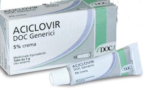 Aciclovir Doc 5% Crema Tubo 3 G