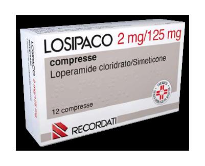 Losipaco 2 Mg + 125 Mg Compresse 12 Compresse In Blister Pvc/Pvdc/Al