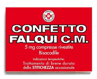 Confetto Falqui Cm 5 Mg Compresse Rivestite 20 Compresse