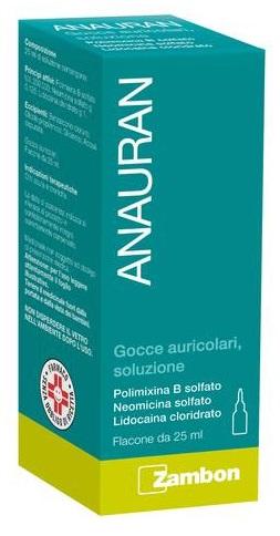 Anauran Gocce Auricolari, Soluzione 1 Flacone 25 Ml