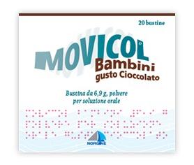 Movicol Bambini 6,9 G Polvere Per Soluzione Orale Gusto Cioccolato 20 Bustine