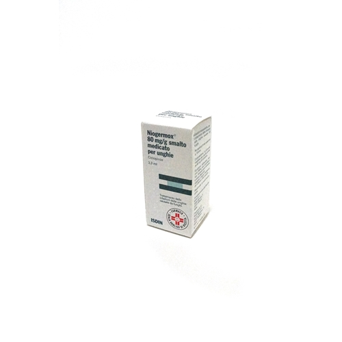 Niogermox 80 Mg G Smalto Medicato Per Unghie Flacone In Vetro Da 3 3Ml Con Tappo A Vite Pp Pennellino Applicatore