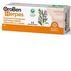 Planta Medica Linea Trattamento Herpes OroBen Herpes Gel Protettivo Lenitivo 8ml