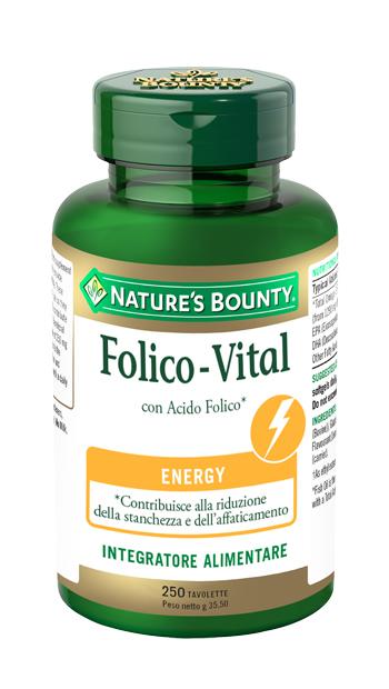 Nature  s Bounty Folico Vital 250 Tavolette