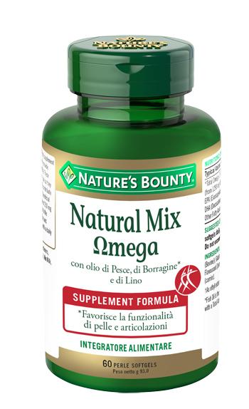 Nature  s Bounty Natural Mix Omega 60 Perle