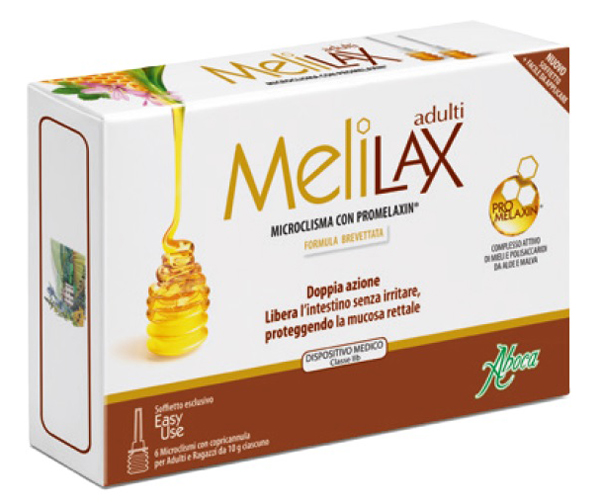 Aboca Integratori Linea Benessere Intestinale Melilax Adulti 6 Microclismi