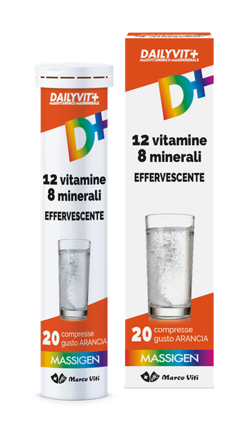 Dailyvit+ 12 Vitamine 8 Minerali Effervescente 20 Compresse