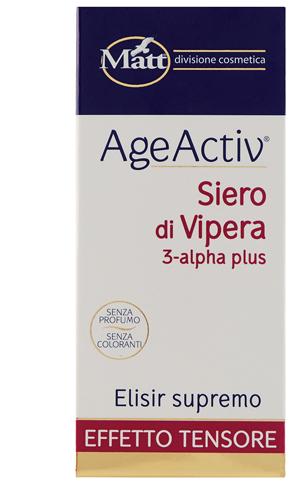 Matt Age Activ Siero Di Vipera 3 alpha Plus Elisir Supremo Effetto Tensore 30 Ml