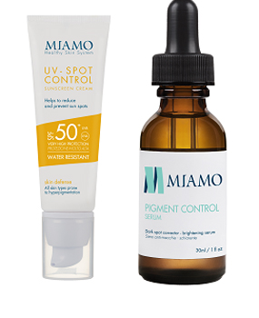 Med Miamo Kit Spot Control Sunscreen Cream Spf50 Pigment Control Serum 30 Ml
