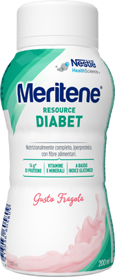 Nestle Meritene Resource Diabet Fragola alimento iperproteico 28 vitamine 200ml