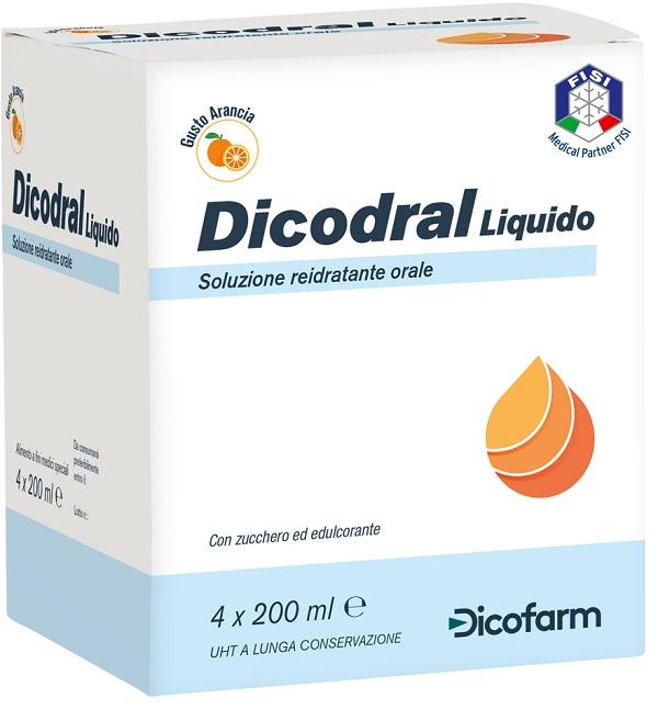 Dicofarm Dicodral Liquido Soluzione Reidratante Orale 4 X 200 Ml