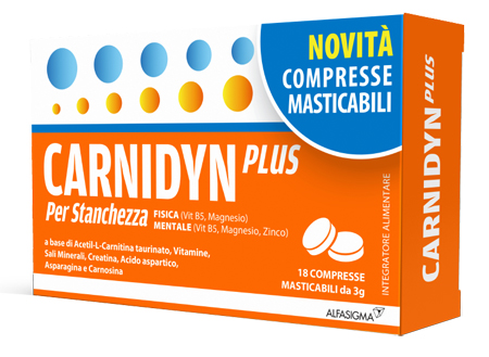 Alfasigma Carnidyn Plus 18 Compresse Masticabili