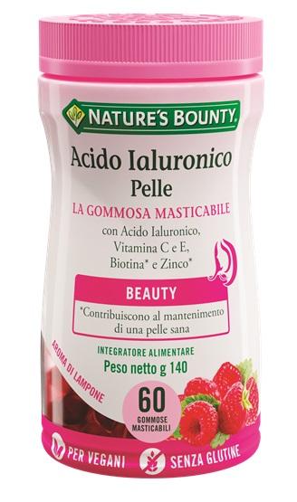 Nature  s Bounty Nature  s Bounty Acido Ialuronico Pelle 60 Gommose Masticabili