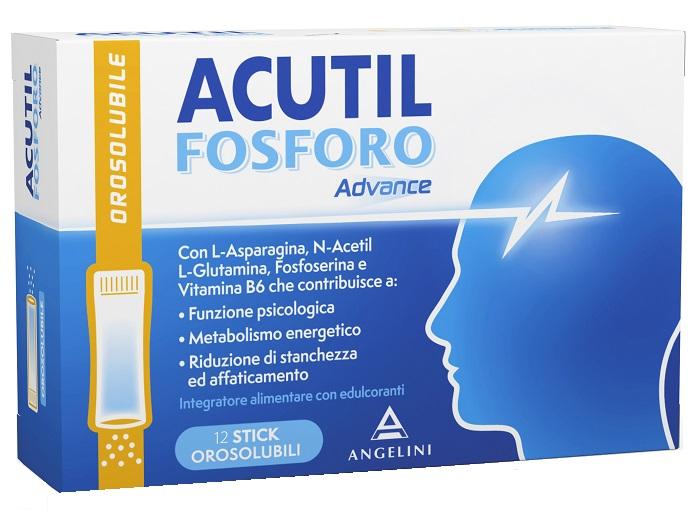 Angelini Acutil Fosforo Advance 12 Stick Orosolubili