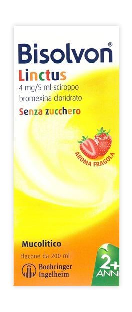 Bisolvon 4 Mg/5 Ml Sciroppo Aroma Fragola Flacone 200 Ml
