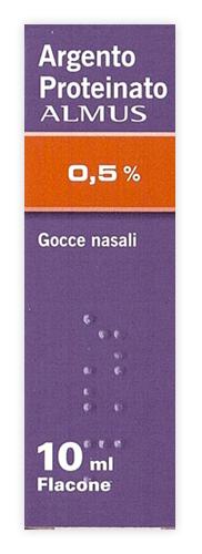 Argento Proteinato 0,5% Gocce Nasali E Auricolari, Soluzione Flacone 10 Ml