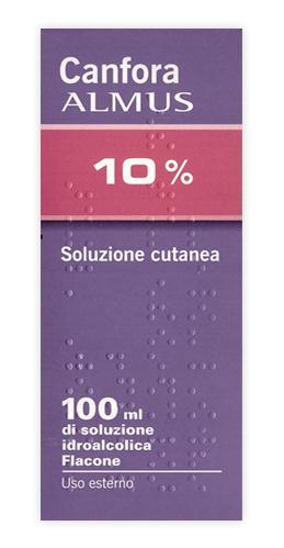 Canfora 10% Soluzione Cutanea 1 Flacone 100 Ml Di Soluzione Idroalcolica