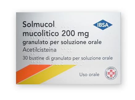 Solmucol Mucolitico 200 Mg Granulato Per Soluzione Orale 30 Bustine